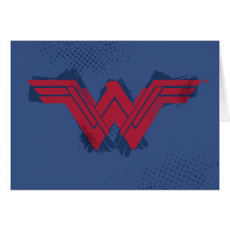 Justice League | Brushed Wonder Woman Symbol Card