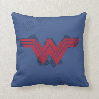 Justice League | Brushed Wonder Woman Symbol Cushion