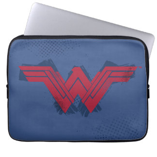 Justice League | Brushed Wonder Woman Symbol Laptop Sleeve