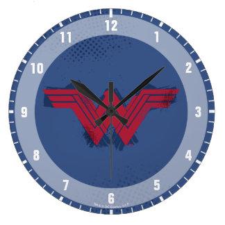 Justice League   Brushed Wonder Woman Symbol Large Clock