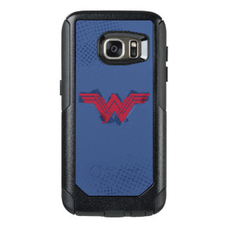 Justice League | Brushed Wonder Woman Symbol OtterBox Samsung Galaxy S7 Case