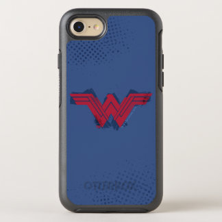 Justice League | Brushed Wonder Woman Symbol OtterBox Symmetry iPhone 8/7 Case