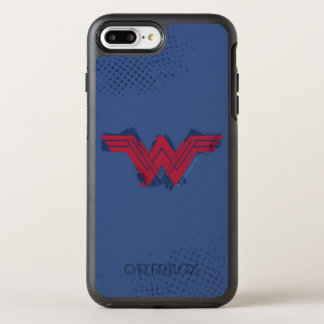 Justice League | Brushed Wonder Woman Symbol OtterBox Symmetry iPhone 8 Plus/7 Plus Case