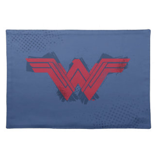 Justice League | Brushed Wonder Woman Symbol Placemat