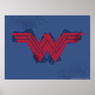 Justice League | Brushed Wonder Woman Symbol Poster