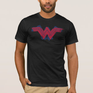 Justice League | Brushed Wonder Woman Symbol T-Shirt