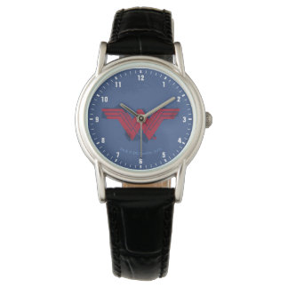 Justice League | Brushed Wonder Woman Symbol Watch