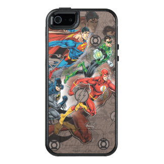 Justice League Collage OtterBox iPhone 5/5s/SE Case
