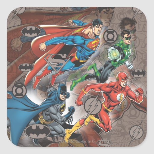 Justice League Collage Stickers