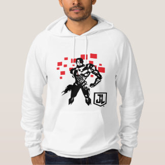 Justice League | Cyborg Digital Noir Pop Art Hoodie