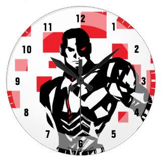 Justice League   Cyborg Digital Noir Pop Art Large Clock