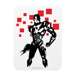 Justice League | Cyborg Digital Noir Pop Art Magnet