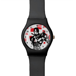 Justice League | Cyborg Digital Noir Pop Art Watch