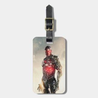 Justice League   Cyborg On Battlefield Luggage Tag