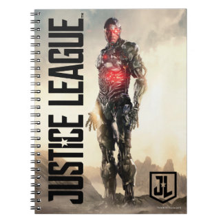 Justice League | Cyborg On Battlefield Notebook