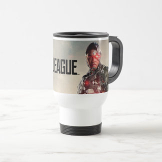 Justice League | Cyborg On Battlefield Travel Mug