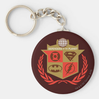 Justice League Defenders of the Planet Basic Round Button Key Ring