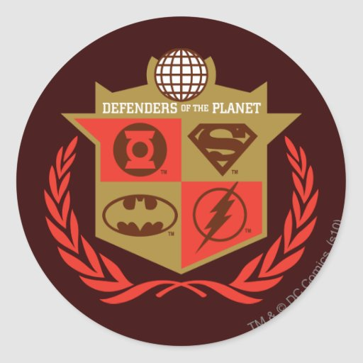 Justice League Defenders of the Planet Sticker
