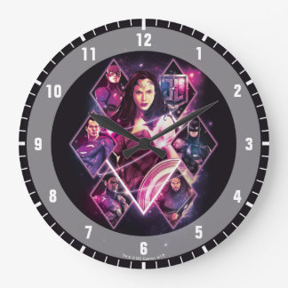 Justice League | Diamond Galactic Group Panels Large Clock