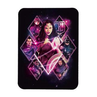 Justice League | Diamond Galactic Group Panels Magnet