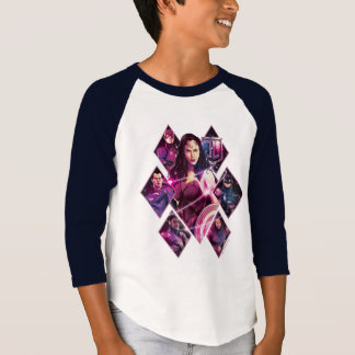 Justice League | Diamond Galactic Group Panels T-Shirt
