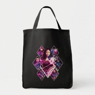 Justice League | Diamond Galactic Group Panels Tote Bag
