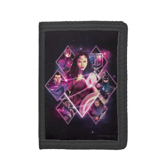 Justice League | Diamond Galactic Group Panels Trifold Wallet