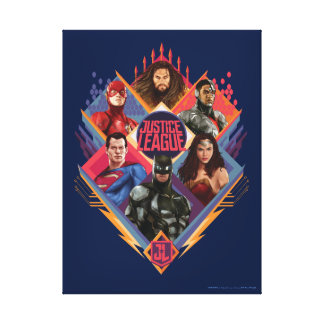 Justice League | Diamond Hatch Group Badge Canvas Print