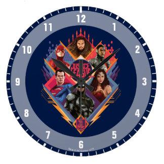 Justice League | Diamond Hatch Group Badge Large Clock
