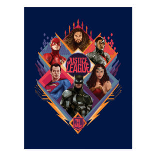 Justice League | Diamond Hatch Group Badge Postcard