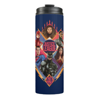 Justice League | Diamond Hatch Group Badge Thermal Tumbler