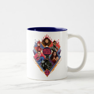 Justice League | Diamond Hatch Group Badge Two-Tone Coffee Mug