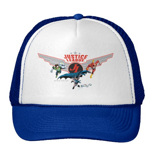 Justice League Flying Air Badge and Heroes Trucker Hats