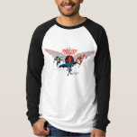 Justice League Flying Air Badge and Heroes T Shirts