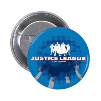 Justice League Global Defenders 6 Cm Round Badge