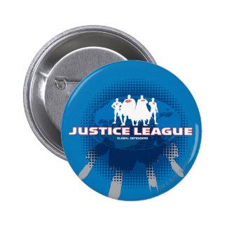Justice League Global Defenders 6 Cm Round Badge