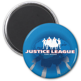 Justice League Global Defenders 6 Cm Round Magnet