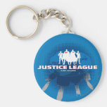 Justice League Global Defenders Basic Round Button Key Ring