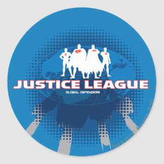 Justice League Global Defenders Round Sticker