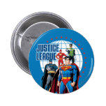 Justice League Global Heroes 6 Cm Round Badge