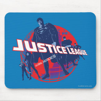 Justice League Global Heroes  and Globe Mouse Pad
