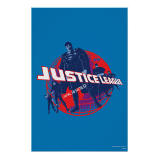 Justice League Global Heroes  and Globe Poster