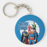 Justice League Global Heroes Basic Round Button Key Ring