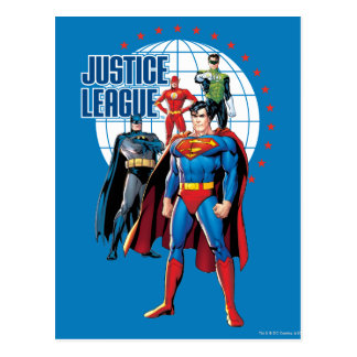 Justice League Global Heroes Postcard