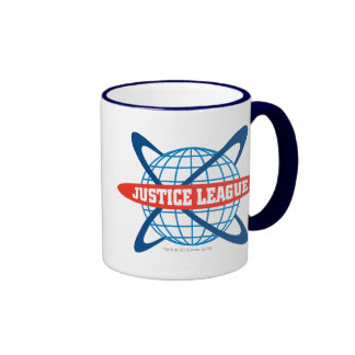 Justice League Globe Logo Ringer Coffee Mug