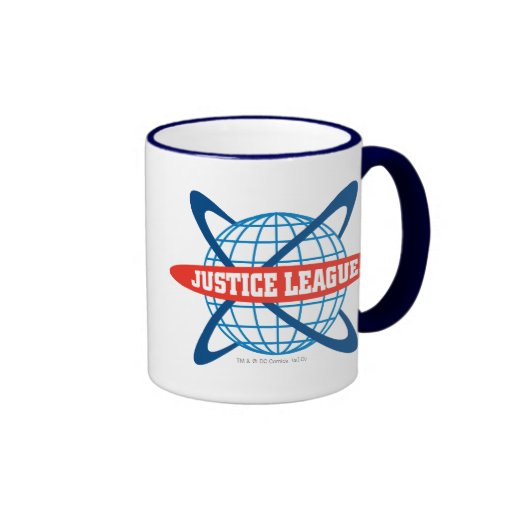 Justice League Globe Logo Coffee Mug