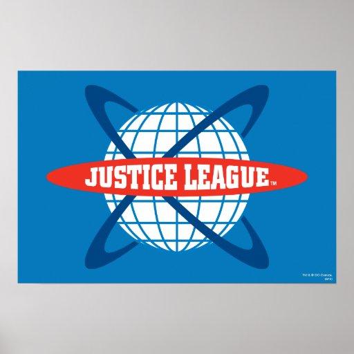 Justice League Globe Logo Poster