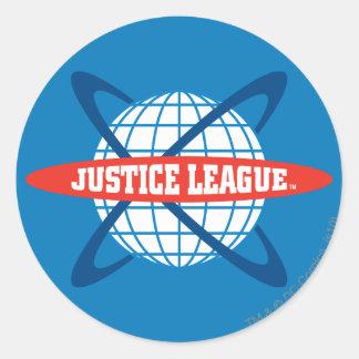 Justice League Globe Logo Round Sticker