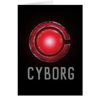 Justice League | Glowing Cyborg Symbol Card
