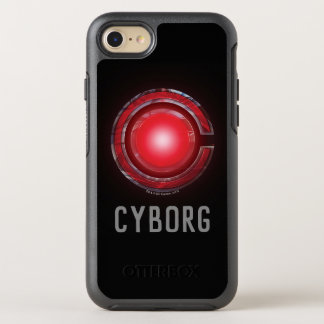 Justice League | Glowing Cyborg Symbol OtterBox Symmetry iPhone 8/7 Case